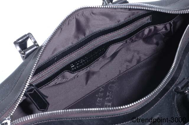 burberry tasche reisetasche leder schwarz neu ebay. Black Bedroom Furniture Sets. Home Design Ideas