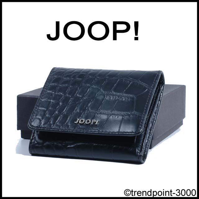 JOOP! Geldbörse Kalbsleder Leder Kroko Prägung Schwarz NEU EBay